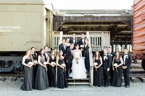 Mismatched Formal Black Bridesmaid Dresses