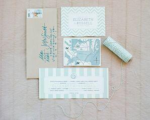 Light Blue Patterned Invitation Suite