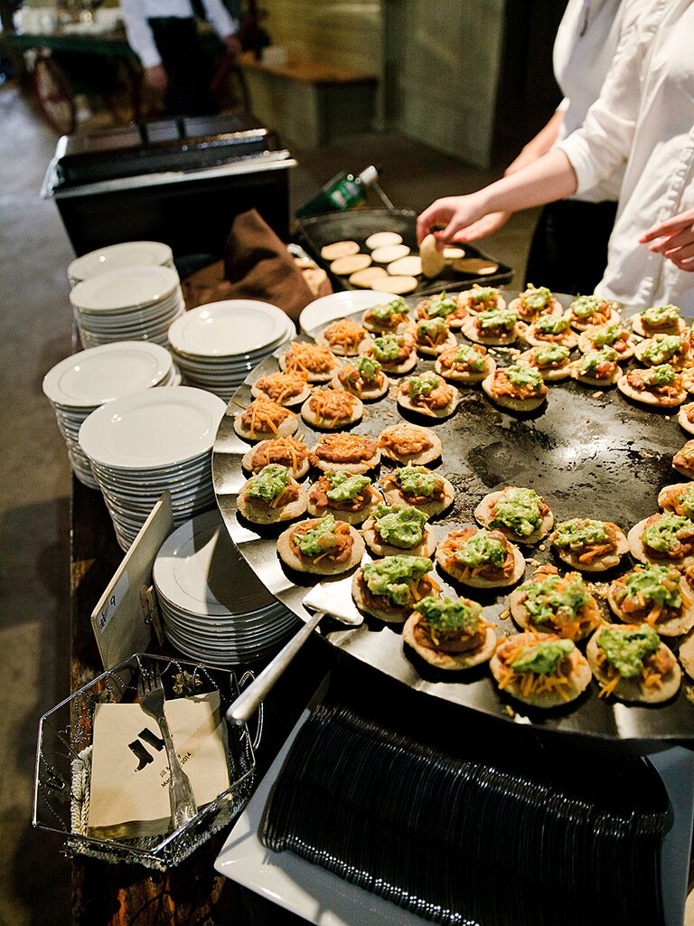Chef Stations For A Creative Wedding Reception Menu Idea