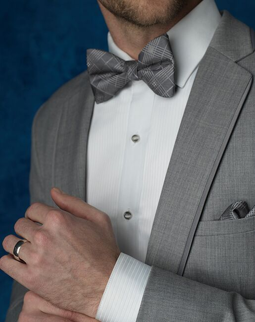 Allure Men Heather Gray Gray Tuxedo