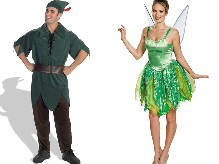 Disney couple costume ideas Tinkerbell and Peter Pan
