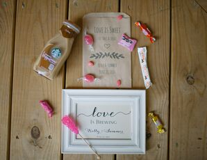 'Love Is Sweet' Candy Bar Reception Treat