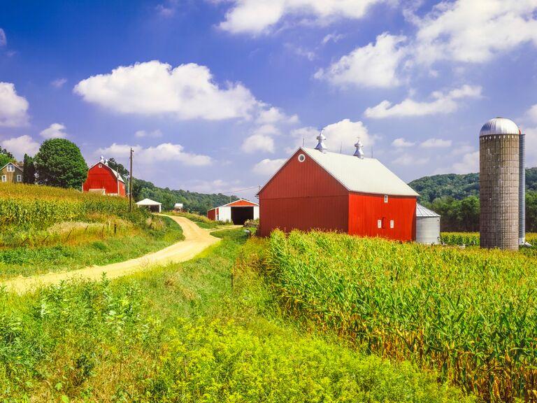 Madison farm scene
