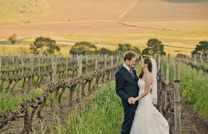 For their late August wedding in Cape Town, South Africa, Carmen Visser (28 and a sales and account manager) and Manfred Hoebel (28 and a technical ac
