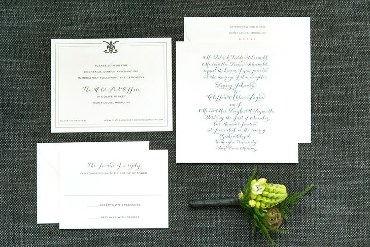 Traditional Formal Wedding Invitations