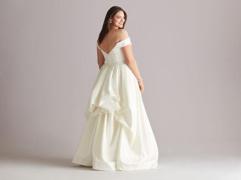royal bustle wedding dress