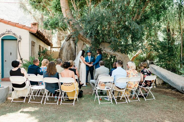 Intimate Moorten Botanical Garden Ceremony