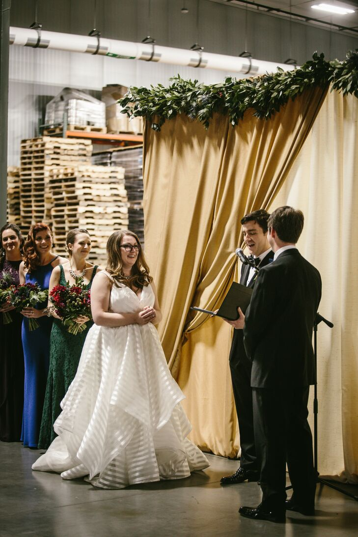 Ceremony inside a Craft Brewery