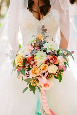 Colorful Overflowing Flower Bouquet