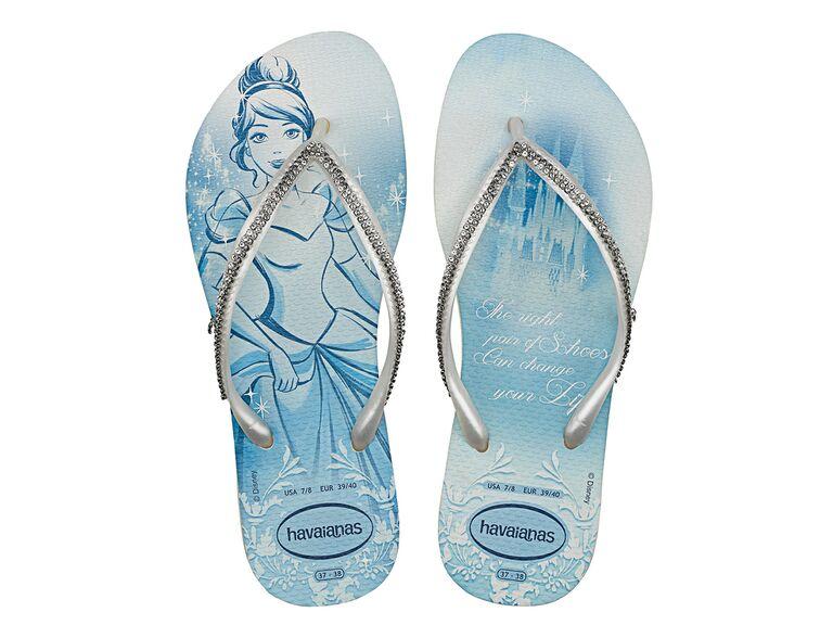Cinderella Havaianas flip flops Disney bachelorette party