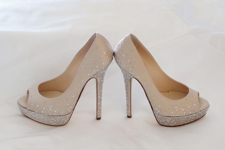 Ivory Diamond Jimmy Choo Wedding Shoes
