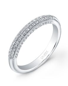 Uneek Fine Jewelry UWB021 White Gold Wedding Ring