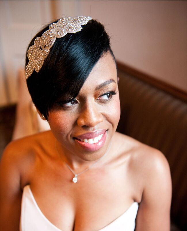 Wedding Hairstyles for Brides With Short Hair |<img class=