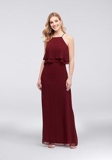 David's Bridal Collection David's Bridal Style 9560NK9B Halter Bridesmaid Dress