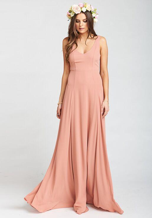 a2df1d8dd34 Show Me Your Mumu Jenn Maxi Dress - Rustic Mauve Crisp V-Neck Bridesmaid  Dress