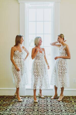 Illusion Lace Self-Portrait Bridesmaid Dresses