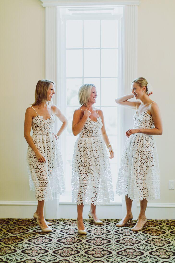 e1676e661521 Illusion Lace Self-Portrait Bridesmaid Dresses