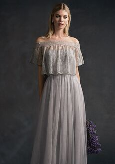 9c813f11bb Belsoie L194060 Off the Shoulder Bridesmaid Dress