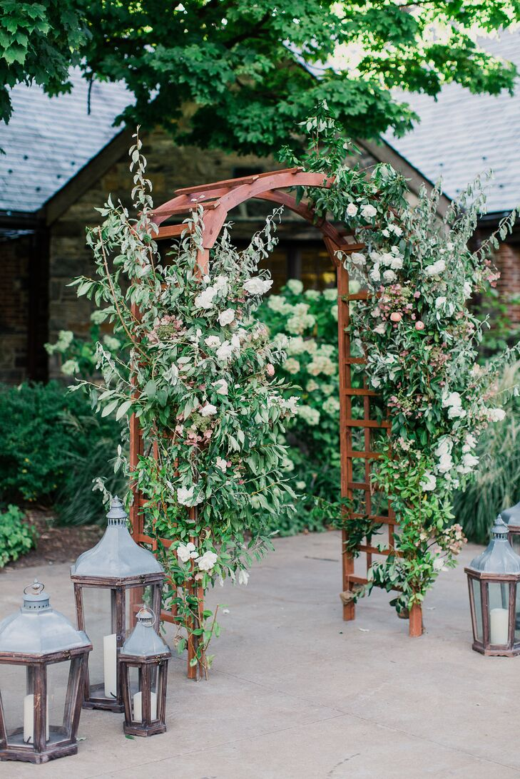 Rustic Ceremony Arch with Lanterns