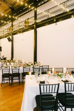 Black and White Industrial Loft Reception