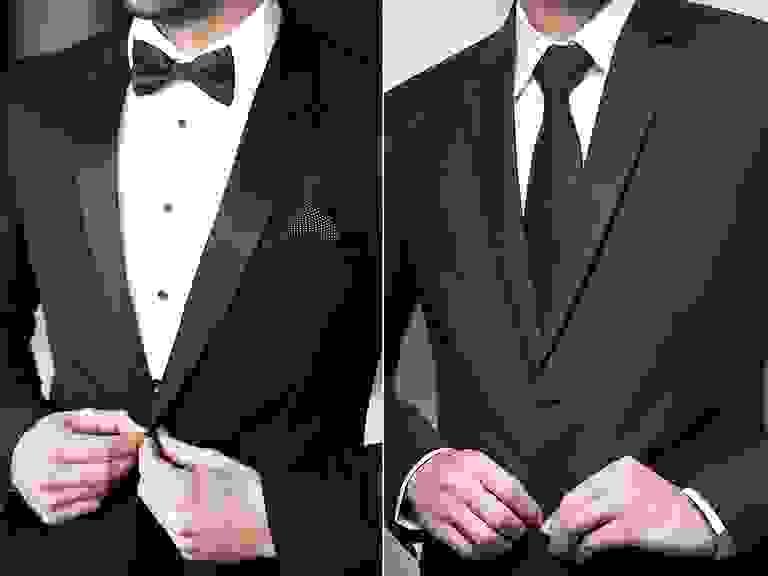 Tuxedo vs suit differences