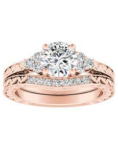 DiamondWish.com Vintage Princess, Cushion, Round, Oval Cut Engagement Ring
