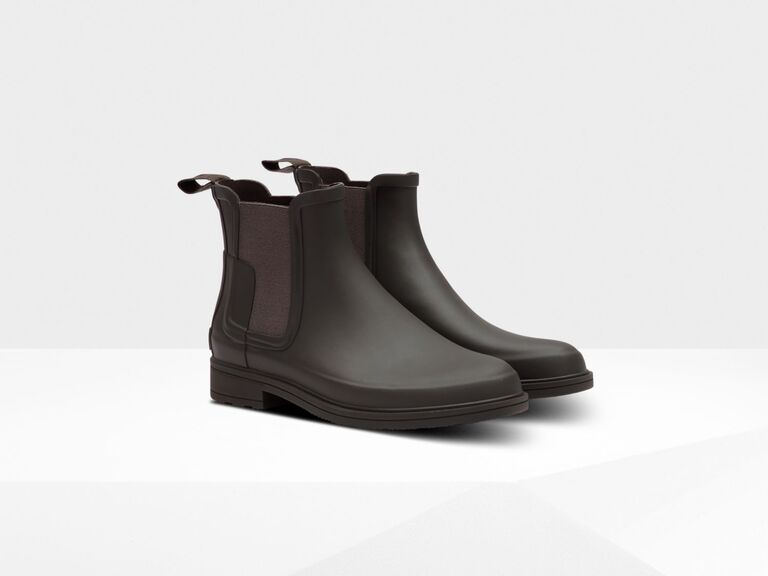 Rain boots for the groom and groomsmen