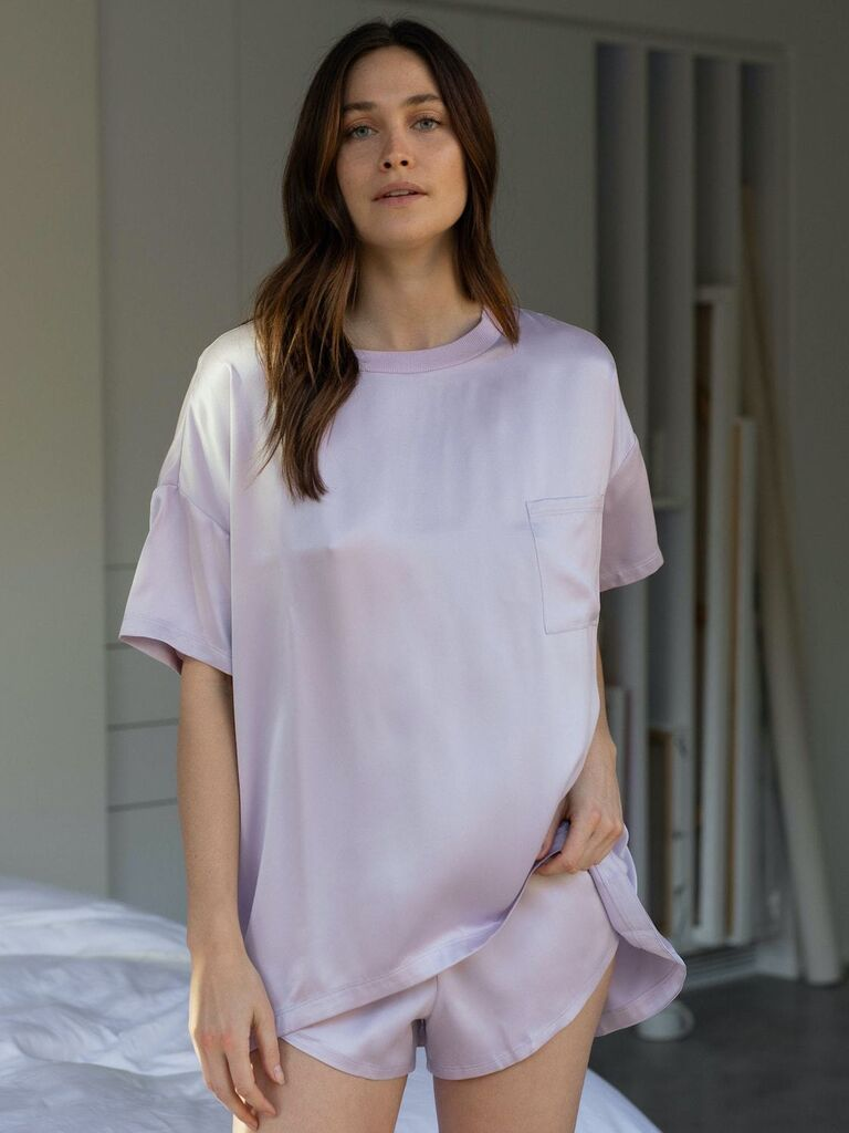 Silk pajamas cute Valentine's Day gift for her