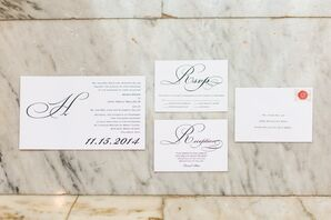 White and Black Invitation Suite
