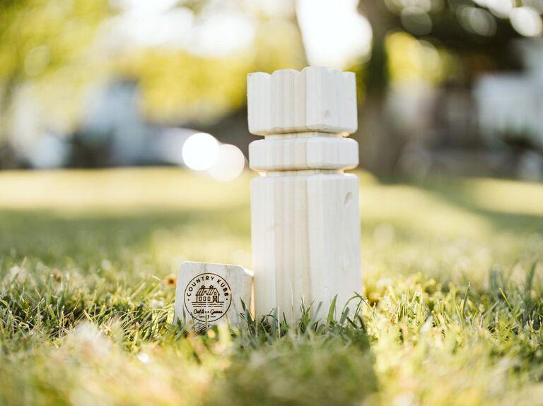 Kubb wedding lawn game set