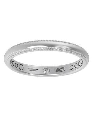 Everband 2.5 mm Milgrain White Gold, Platinum, Rose Gold Wedding Ring