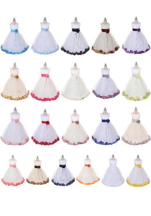 Kid's Dream 160B-SASH Black Flower Girl Dress