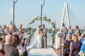 Rooftop Ceremony at The Caramel Room at Bissingers in St. Louis, Missouri