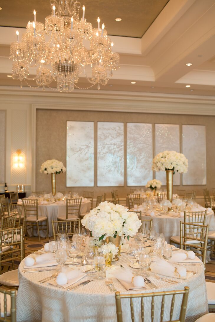White and Gold Four Seasons Hotel Boston Reception