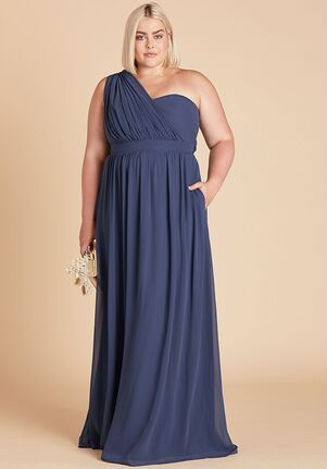 Birdy Grey Grace Convertible Dress Curve in Slate Blue Strapless Bridesmaid Dress