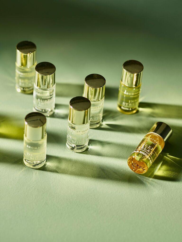 Aromatherapy bath oils