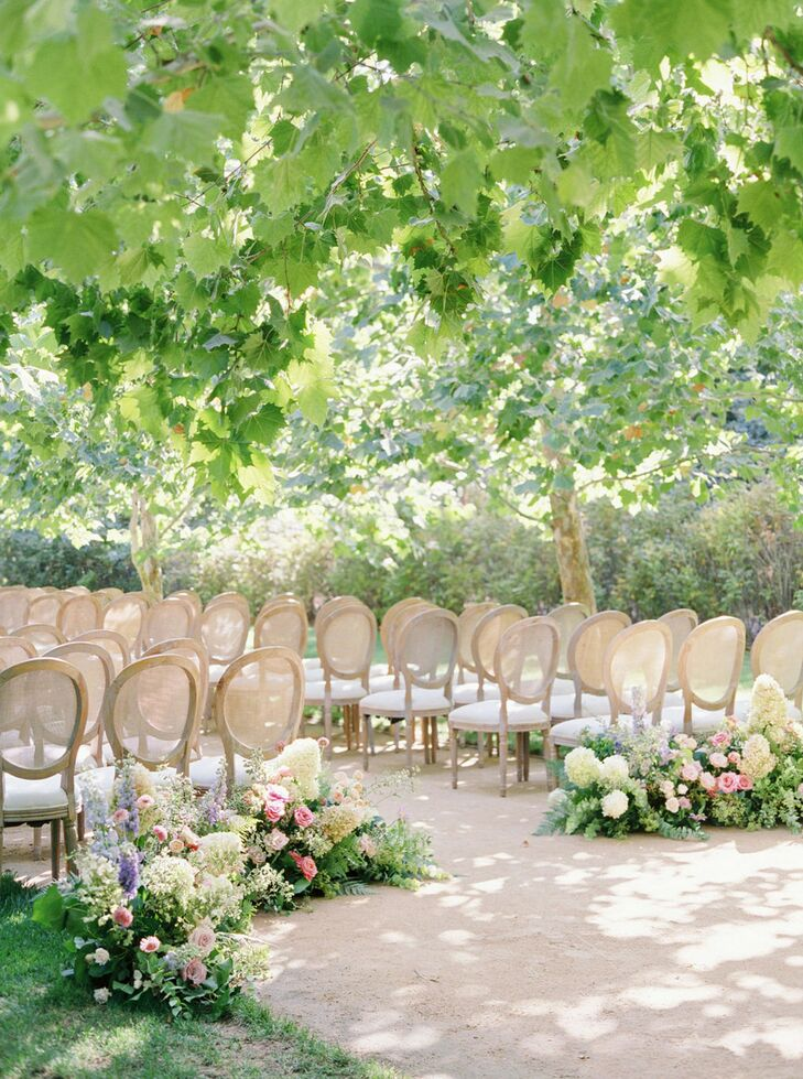 Romantic Ceremony Seating at Kestrel Park in Santa Ynez, California