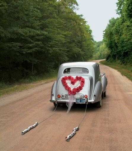 wedding exit transportation getaway car