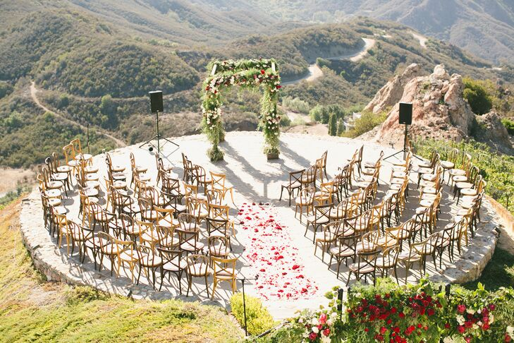 Malibu Rocky Oaks Wedding.Malibu Rocky Oaks Estate Vineyards Ceremony