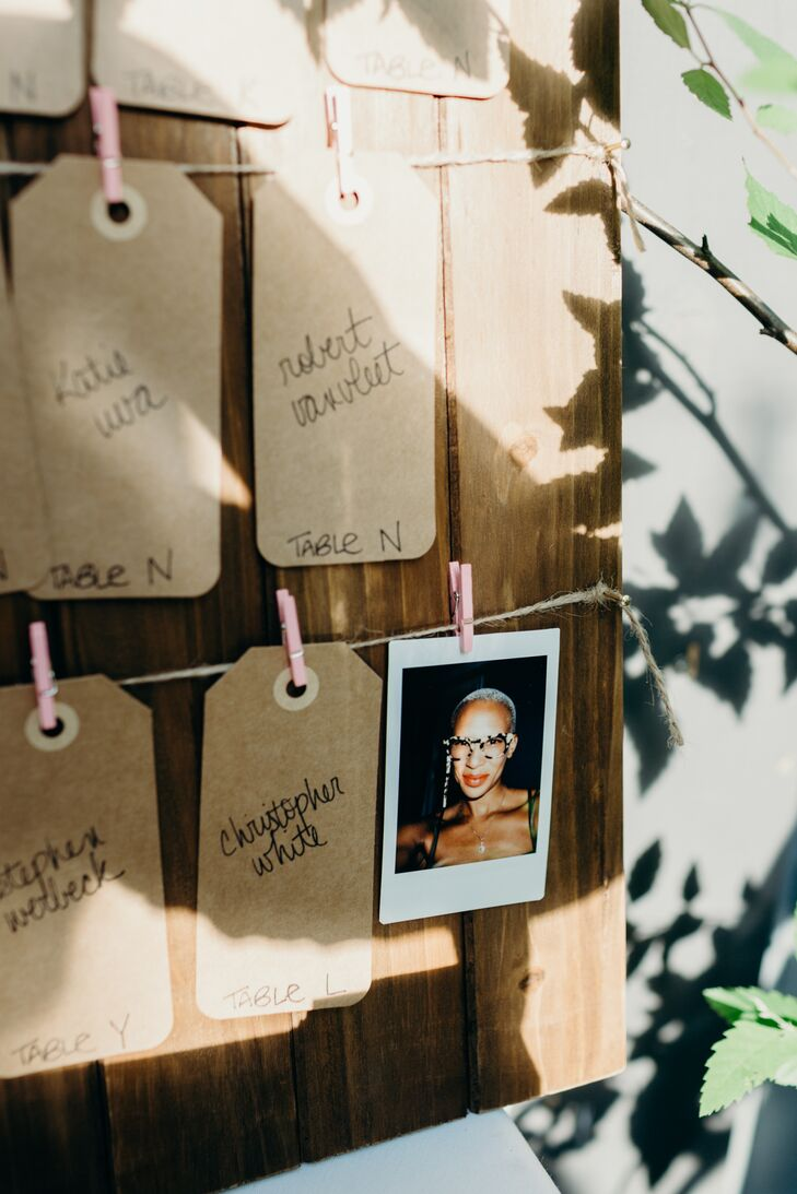 Handwritten Kraft Paper Gift Tag Escort Cards