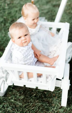 Children in Grey and White Gingham