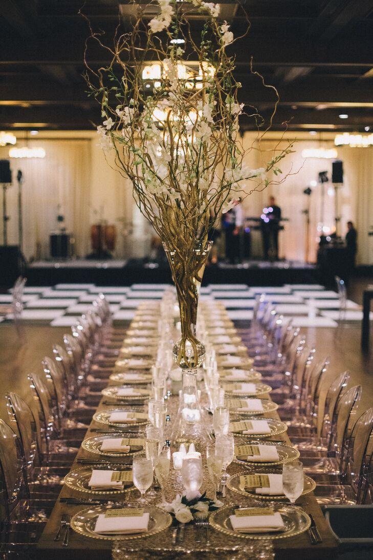 Tremendous Whimsical Tall Golden Branch Centerpiece Beutiful Home Inspiration Xortanetmahrainfo