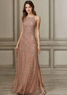 Adrianna Papell Platinum 40139 Bateau Bridesmaid Dress