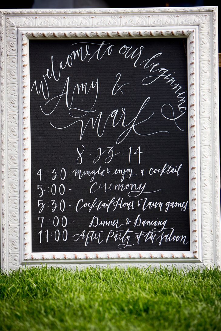 Elegant Chalkboard Ceremony Program