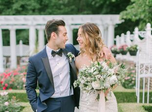 Dentists Katelyn Domingues (27) and Miles Santo (27) designed their day around the famed fairy tale <i>The Secret Garden</i> to evoke an intimate and