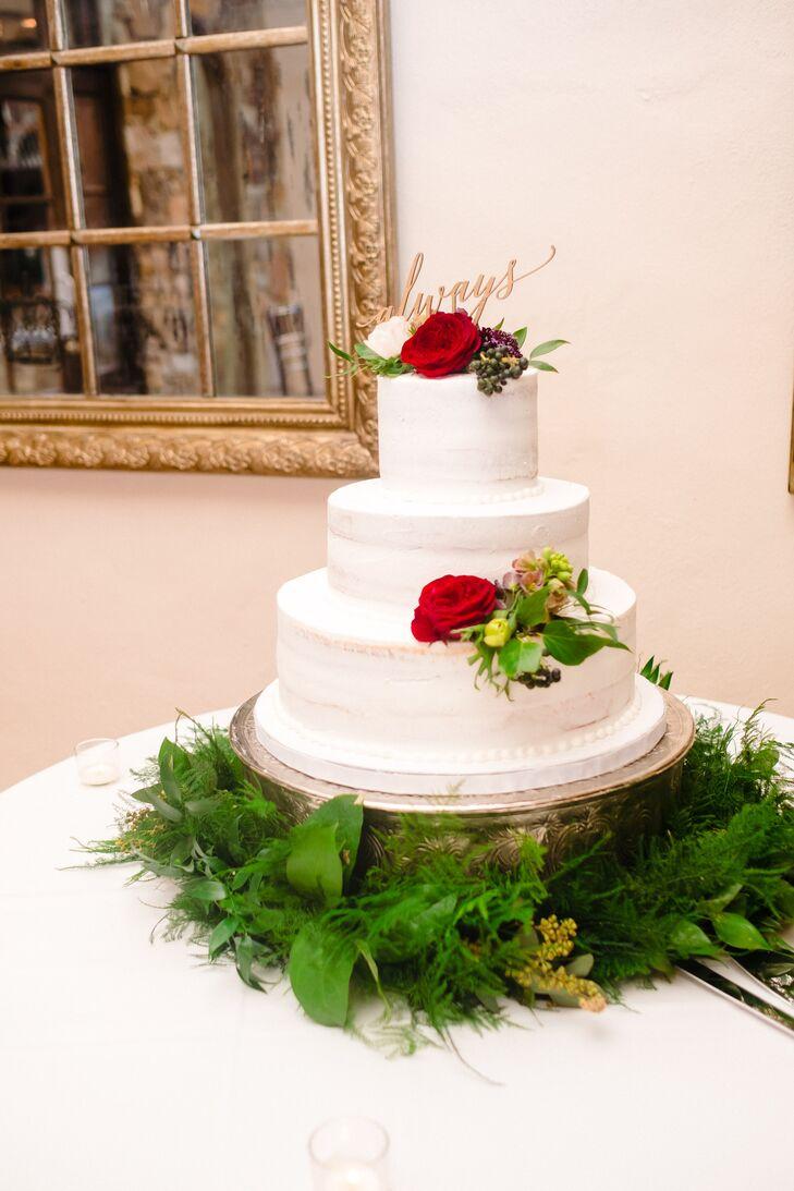 Fresh Fern Naked Cake Stand