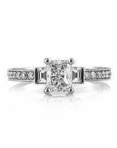 Mark Broumand Unique Radiant Cut Engagement Ring