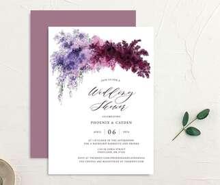 Floral wedding shower invitation design