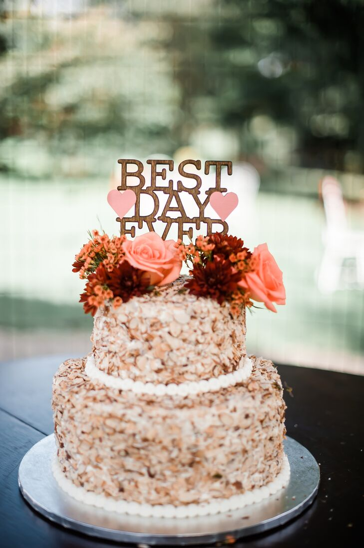 Casual Tiered Wedding Cake with