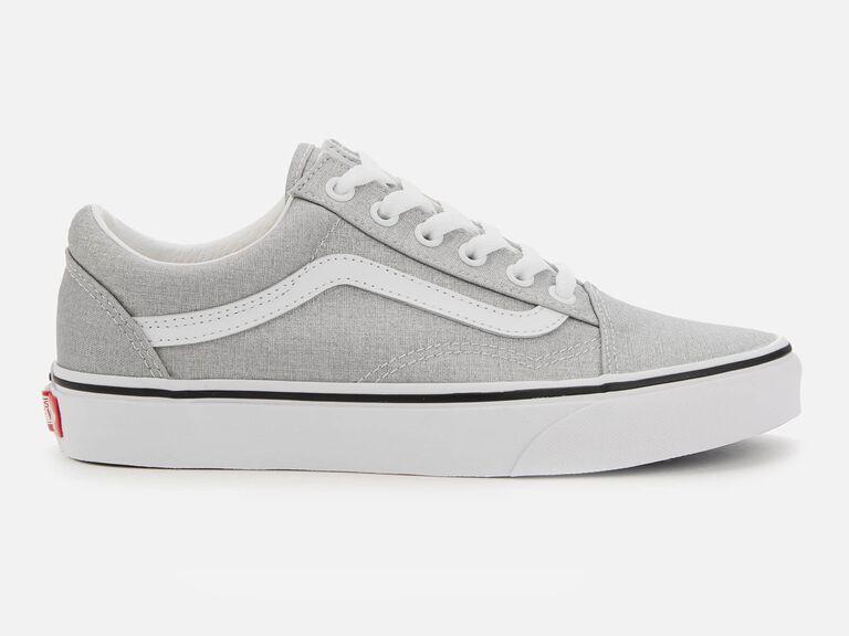 Silver Vans wedding shoes
